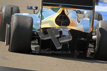 © 2012 Octane Photographic Ltd. Hungarian GP Hungaroring - Saturday 28th July 2012 - GP2 Race 1 - Caterham Racing - Rodolfo Gonzalez suffered a 1st lap puncture. Digital Ref : 0431cb7d0560