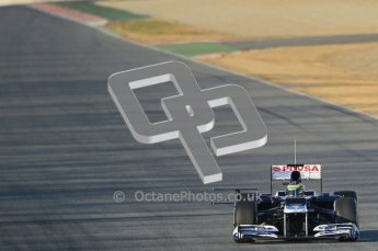© 2012 Octane Photographic Ltd. Barcelona Winter Test 1 Day 1 - Tuesday 21st February 2012. Williams FW34 - Bruno Senna. Digital Ref : 0226lw1d6130