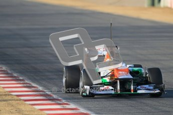 © 2012 Octane Photographic Ltd. Barcelona Winter Test 1 Day 1 - Tuesday 21st February 2012. Force India VJM05 - Nico Hulkenberg. Digital Ref : 0226lw1d6436