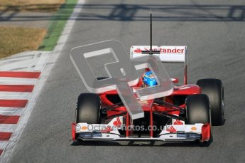 © 2012 Octane Photographic Ltd. Barcelona Winter Test 1 Day 1 - Tuesday 21st February 2012. Ferrari F2012 - Fernando Alonso. Digital Ref : 0226lw1d6826