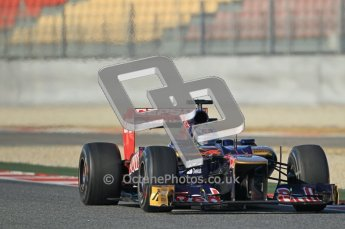 © 2012 Octane Photographic Ltd. Barcelona Winter Test 1 Day 1 - Tuesday 21st February 2012. Toro Rosso STR7 - Daniel Ricciardo. Digital Ref : 0226lw1d6922