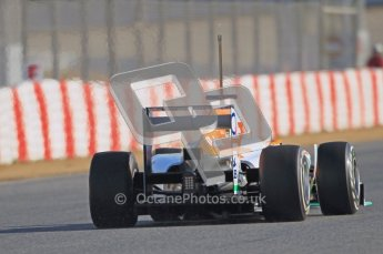 © 2012 Octane Photographic Ltd. Barcelona Winter Test 1 Day 1 - Tuesday 21st February 2012. Force India VJM05 - Nico Hulkenberg. Digital Ref : 0226lw1d6932