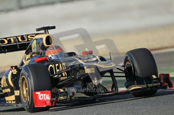 © 2012 Octane Photographic Ltd. Barcelona Winter Test 1 Day 1 - Tuesday 21st February 2012. Lotus E20 - Romain Grosjean. Digital Ref : 0226lw1d7088