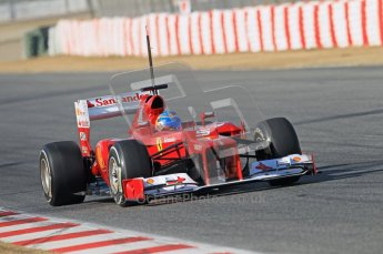 © 2012 Octane Photographic Ltd. Barcelona Winter Test 1 Day 1 - Tuesday 21st February 2012. Ferrari F2012 - Fernando Alonso. Digital Ref : 0226lw1d7248