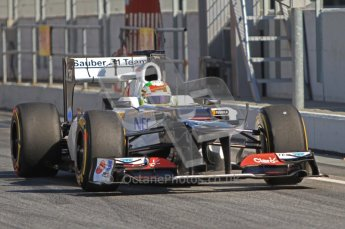 © 2012 Octane Photographic Ltd. Barcelona Winter Test 1 Day 1 - Tuesday 21st February 2012. Sauber C31 - Sergio Perez. Digital Ref : 0226lw7d5806