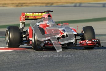 © 2012 Octane Photographic Ltd. Barcelona Winter Test 1 Day 2 - Wednesday 21st February 2012. MVR02 - Charles Pic. Digital Ref : 0227lw1d7496