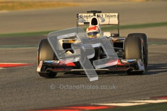 © 2012 Octane Photographic Ltd. Barcelona Winter Test 1 Day 2 - Wednesday 21st February 2012. Sauber C31 - Sergio Perez. Digital Ref : 0227lw1d7651
