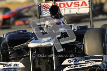 © 2012 Octane Photographic Ltd. Barcelona Winter Test 1 Day 2 - Wednesday 21st February 2012. Williams FW34 - Valtteri Bottas. Digital Ref : 0227lw1d7893