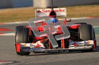 © 2012 Octane Photographic Ltd. Barcelona Winter Test 1 Day 2 - Wednesday 21st February 2012. Ferrari F2012 - Fernando Alonso. Digital Ref : 0227lw1d7920