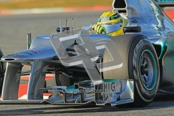 © 2012 Octane Photographic Ltd. Barcelona Winter Test 1 Day 2 - Wednesday 21st February 2012. Mercedes W03 - Nico Rosberg. Digital Ref : 0227lw1d8017