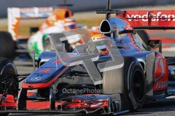 © 2012 Octane Photographic Ltd. Barcelona Winter Test 1 Day 2 - Wednesday 21st February 2012. McLaren MP4/27 - Lewis Hamilton. Digital Ref : 0227lw1d8030