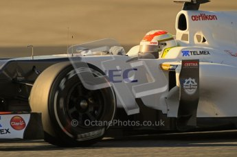 © 2012 Octane Photographic Ltd. Barcelona Winter Test 1 Day 2 - Wednesday 21st February 2012. Sauber C31 - Sergio Perez. Digital Ref : 0227lw1d8106