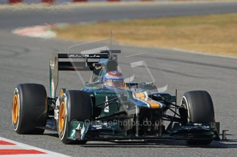 © 2012 Octane Photographic Ltd. Barcelona Winter Test 1 Day 2 - Wednesday 21st February 2012. Caterham CT01 - Vitaly Petrov. Digital Ref : 0227lw1d8820