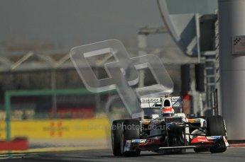 © 2012 Octane Photographic Ltd. Barcelona Winter Test 1 Day 2 - Wednesday 21st February 2012. Sauber C31 - Sergio Perez. Digital Ref : 0227lw1d8918