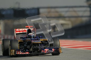 © 2012 Octane Photographic Ltd. Barcelona Winter Test 1 Day 2 - Wednesday 21st February 2012. Toro Rosso STR7 - Daniel Ricciardo. Digital Ref : 0227lw1d8977