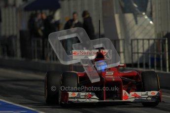 © 2012 Octane Photographic Ltd. Barcelona Winter Test 1 Day 2 - Wednesday 21st February 2012. Ferrari F2012 - Fernando Alonso. Digital Ref : 0227lw1d9332