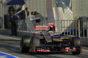 © 2012 Octane Photographic Ltd. Barcelona Winter Test 1 Day 2 - Wednesday 21st February 2012. Toro Rosso STR7 - Daniel Ricciardo. Digital Ref : 0227lw1d9394