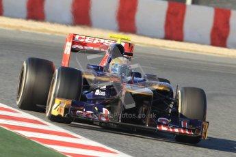 © 2012 Octane Photographic Ltd. Barcelona Winter Test 1 Day 3 - Thursday 23rd February 2012. Toro Rosso STR7 - Jean-Eric Vergne. Digital Ref : 0228cb7d6521