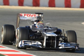 © 2012 Octane Photographic Ltd. Barcelona Winter Test 1 Day 3 - Thursday 23rd February 2012. Williams FW34 - Pastor Maldonado. Digital Ref : 0228cb7d6531