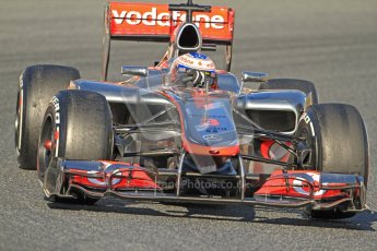 © 2012 Octane Photographic Ltd. Barcelona Winter Test 1 Day 3 - Thursday 23rd February 2012. McLaren MP4/27 - Jenson Button. Digital Ref : 0228cb7d6604