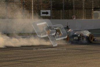 © 2012 Octane Photographic Ltd. Barcelona Winter Test 1 Day 3 - Thursday 23rd February 2012. Caterham CT01 - Vitaly Petrov. Digital Ref : 0228lw7d3100