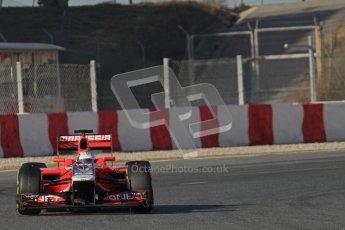 © 2012 Octane Photographic Ltd. Barcelona Winter Test 1 Day 3 - Thursday 23rd February 2012. Marussia MVR02 - Timo Glock. Digital Ref : 0228lw7d3271