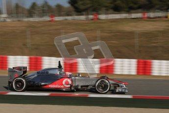 © 2012 Octane Photographic Ltd. Barcelona Winter Test 1 Day 3 - Thursday 23rd February 2012. McLaren MP4/27 - Jenson Button. Digital Ref : 0228lw7d3409