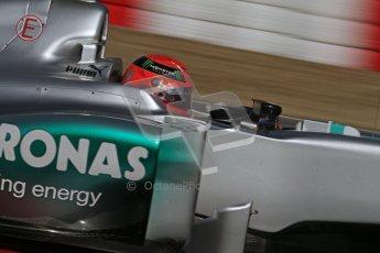 © 2012 Octane Photographic Ltd. Barcelona Winter Test 1 Day 3 - Thursday 23rd February 2012. Mercedes W03 - Michael Schumacher. Digital Ref : 0228lw7d3551
