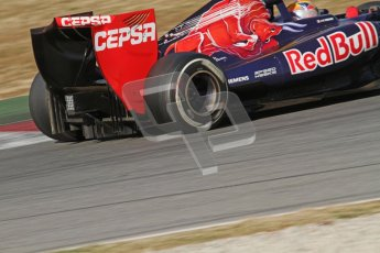© 2012 Octane Photographic Ltd. Barcelona Winter Test 1 Day 3 - Thursday 23rd February 2012. Toro Rosso STR7 - Jean-Eric Vergne. Digital Ref : 0228lw7d3716