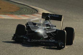 © 2012 Octane Photographic Ltd. Barcelona Winter Test 1 Day 4 - Friday 24th February 2012. Caterham CT01 - Heikki Kovalainen. Digital Ref : 0229cb1d0068