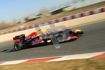 © 2012 Octane Photographic Ltd. Barcelona Winter Test 1 Day 4 - Friday 24th February 2012. Red Bull RB8 - Mark Webber. Digital Ref : 0229cb1d0242