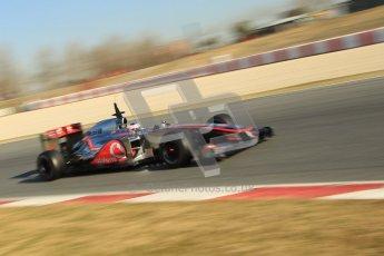 © 2012 Octane Photographic Ltd. Barcelona Winter Test 1 Day 4 - Friday 24th February 2012. McLaren MP4/27 - Jenson Button. Digital Ref : 0229cb1d0274