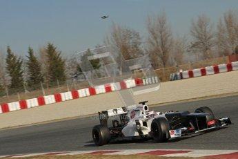 © 2012 Octane Photographic Ltd. Barcelona Winter Test 1 Day 4 - Friday 24th February 2012. Sauber C31 - Kamui Kobayashi. Digital Ref : 0229lw7d4964