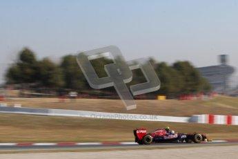 © 2012 Octane Photographic Ltd. Barcelona Winter Test 1 Day 4 - Friday 24th February 2012. Toro Rosso STR7 - Jean-Eric Vergne. Digital Ref : 0229lw7d5115