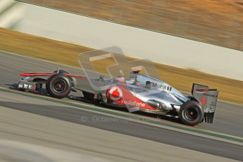 © 2012 Octane Photographic Ltd. Barcelona Winter Test 2 Day 1 - Thursday 1st March 2012. McLaren MP4/27 - Jenson Button. Digital Ref : 0231cb1d2071