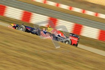 © 2012 Octane Photographic Ltd. Barcelona Winter Test 2 Day 1 - Thursday 1st March 2012. Red Bull RB8 - Mark Webber. Digital Ref : 0231cb1d2202