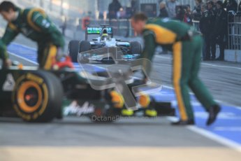 © 2012 Octane Photographic Ltd. Barcelona Winter Test 2 Day 1 - Thursday 1st March 2012. Caterham CT01 - Vitaly Petrov. Digital Ref : 0231cb7d7682
