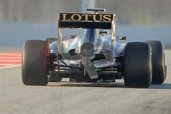 © 2012 Octane Photographic Ltd. Barcelona Winter Test 2 Day 1 - Thursday 1st March 2012. Lotus E20 - Romain Grosjean. Digital Ref : 0231cb7d7792