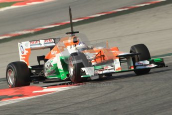 © 2012 Octane Photographic Ltd. Barcelona Winter Test 2 Day 1 - Thursday 24th March 2012. Force India VJM05 - Paul di Resta. Digital Ref : 0231cb7d8156
