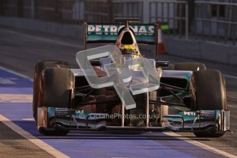 © 2012 Octane Photographic Ltd. Barcelona Winter Test 2 Day 1 - Thursday 1st March 2012. Mercedes W03 - Nico Rosberg. Digital Ref : 0231lw7d7760