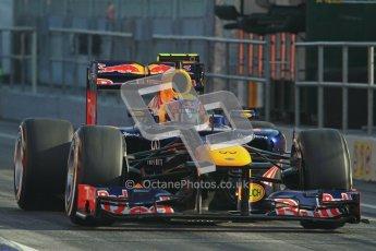 © 2012 Octane Photographic Ltd. Barcelona Winter Test 2 Day 1 - Thursday 1st March 2012. Red Bull RB8 - Mark Webber. Digital Ref : 0231lw7d8203