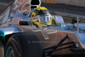 © 2012 Octane Photographic Ltd. Barcelona Winter Test 2 Day 1 - Thursday 1st March 2012. Mercedes W03 - Nico Rosberg. Digital Ref : 0231lw7d8600