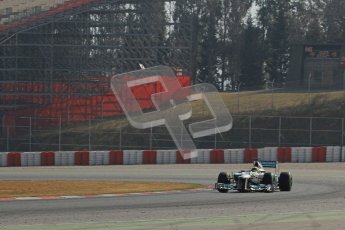 © 2012 Octane Photographic Ltd. Barcelona Winter Test 2 Day 1 - Thursday 1st March 2012. Mercedes W03 - Nico Rosberg. Digital Ref : 0231lw7d9372