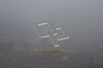 © 2012 Octane Photographic Ltd. Barcelona Winter Test 2 Day 2 - Friday 2nd March 2012. Thick fog delayed the starting of the test as the medical helicopter couldn't take off.. Digital Ref :