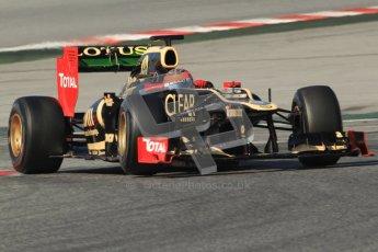© 2012 Octane Photographic Ltd. Barcelona Winter Test 2 Day 2 - Friday 2nd March 2012. Lotus E20 - Romain Grosjean. Digital Ref :