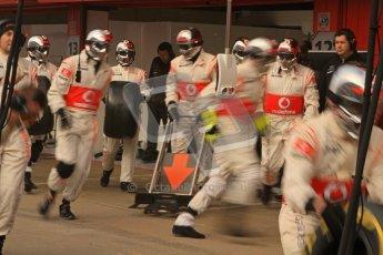 © 2012 Octane Photographic Ltd. Barcelona Winter Test 2 Day 2 - Friday 2nd March 2012. McLaren Practice pit stops. Digital Ref :