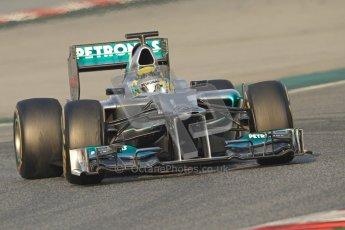 © 2012 Octane Photographic Ltd. Barcelona Winter Test Day 3 - Saturday 3rd March 2012. Mercedes W03 - Nico Rosberg. Digital Ref : 0233cb7d9131