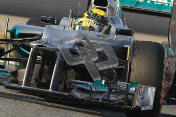 © 2012 Octane Photographic Ltd. Barcelona Winter Test Day 3 - Saturday 3rd March 2012. Mercedes W03 - Nico Rosberg. Digital Ref : 0233cb7d9387