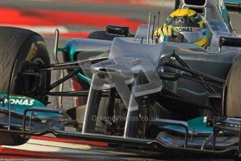© 2012 Octane Photographic Ltd. Barcelona Winter Test Day 3 - Saturday 3rd March 2012. Mercedes W03 - Nico Rosberg. Digital Ref : 0233cb7d9413