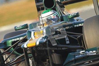 © 2012 Octane Photographic Ltd. Barcelona Winter Test 2 Day 3 - Saturday 3rd March 2012. Caterham CT01 - Heikki Kovalainen. Digital Ref : 0233cb7d9436